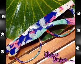Boho Chic Floral Sunglasses, Gradient Lens