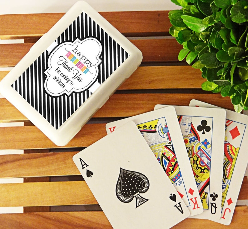Personalized Birthday Playing Cards Set Of 24Available In