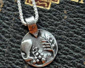 Personalized Handmade First Communion Gift- Girl's Fine Silver Pendant Necklace- Catholic Celebration