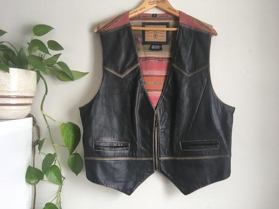 1990s Arizona jeans co leather southwest style ves