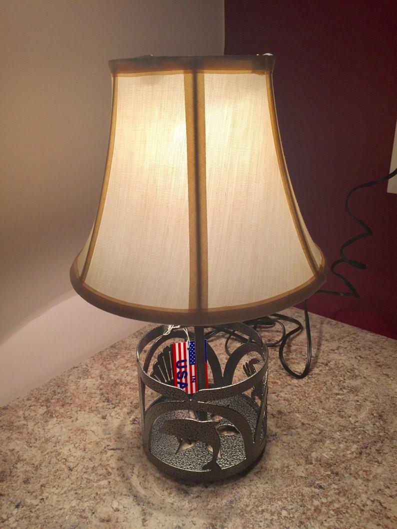 Small Steel Sea Life Table Desk Lamp
