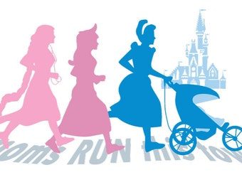 Moms Run This Town Princess Edition Vector Art
