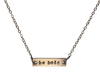Be Bold bar necklace