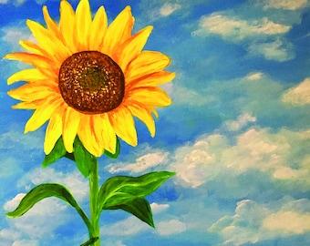 Sunflower field, Print