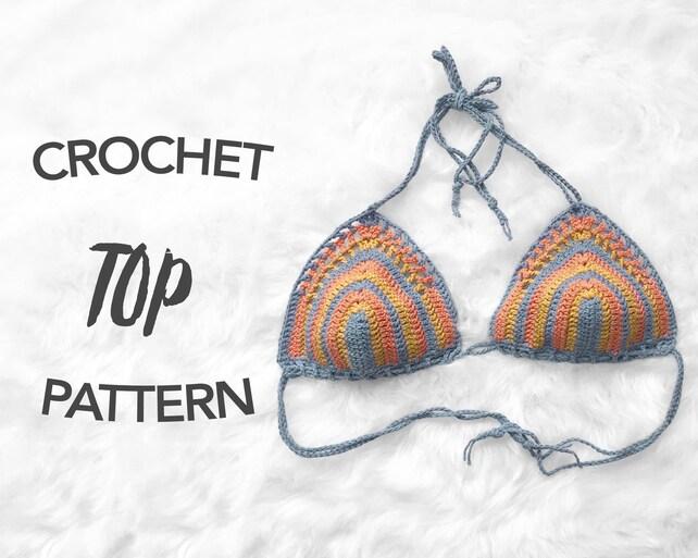 Crochet Bikini Top Pattern Crochet Pattern Crochet Crop Top Etsy