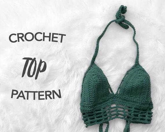 Crochet Crop Top Pattern Crochet Pattern Crochet Bikini Top Etsy