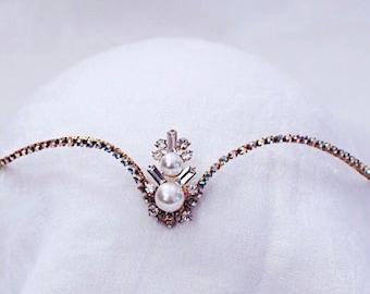 Gold and Pearl Diadem— Bridal— Odalisques— Fairy— Elven— Shades—Sugarplum
