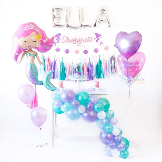 DIY MERMAID Balloon Garland DIY Lavender Blue Teal Balloon   Etsy