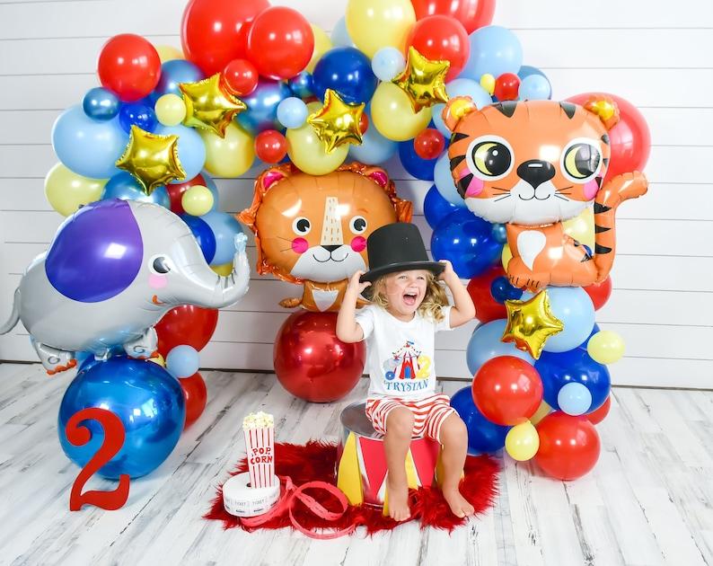 DIY Circus & Carnival Balloon Garland  Red Blue Yellow Arch image 0