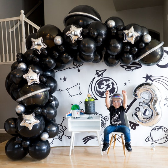 Blast Off Balloon Garland DIY Kit  Astronaut Birthday Space Birthday Party Two The Moon Decor Outer Space Party Astronaut Balloon Arch