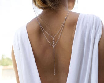 Orion - Back Necklace (BN-07S) Silver
