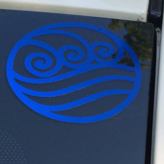 Avatar Water Element Symbol Decal Water Tribe Avatar The Etsy