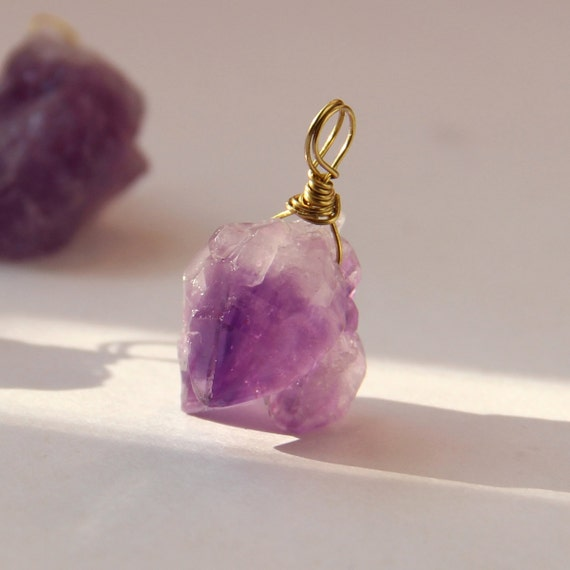 Natural Amethyst Pendent 15-20mm 925 Silver TUMBLE STONE PENDANT