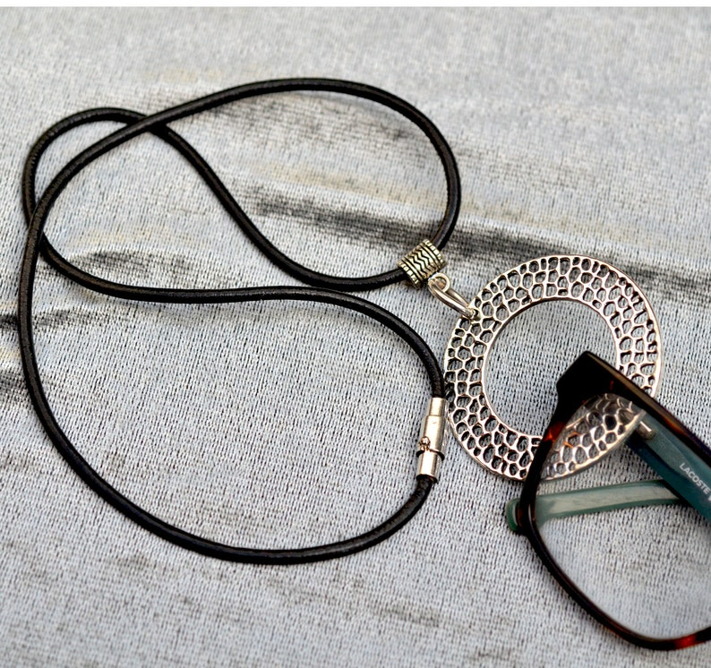 bce54ed9a8a8 Eyeglass Holder Necklace. Magnetic Clasp Glasses Lanyard for