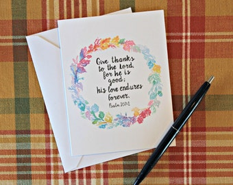 Thanksgiving Watercolor Notecards