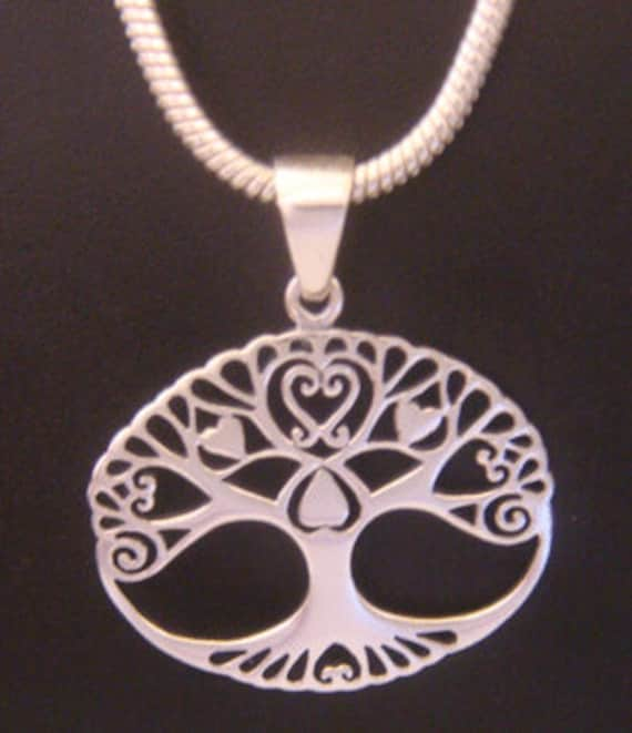 22b092d99eec0 Tree of Life Necklace with 925 Sterling Silver Tree of Life