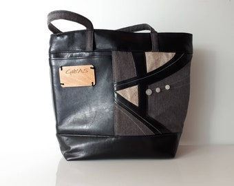 """SECOND LIFE! Tote bag used, washed and restored collection standby """"ATM ' AS"""""""