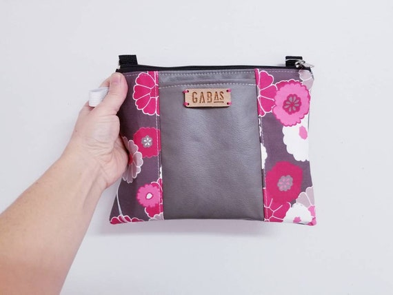 d20a9b1b80d Mini bag, pouch for Vamini floral pink, red, raspberry, by Basil
