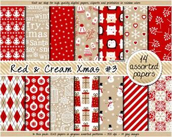 c4c16fb05b1b SALE christmas digital paper red christmas digital paper holiday digital  paper pattern angel reindeer snowflake christmas tree santa gift