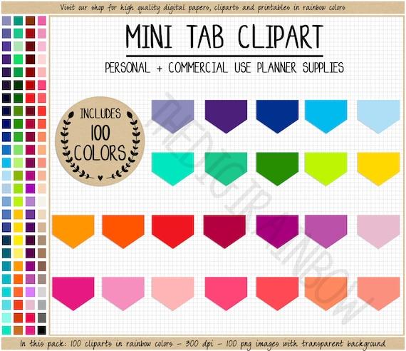 SALE 100 FLAG Clipart Rainbow Flag Stickers Tab