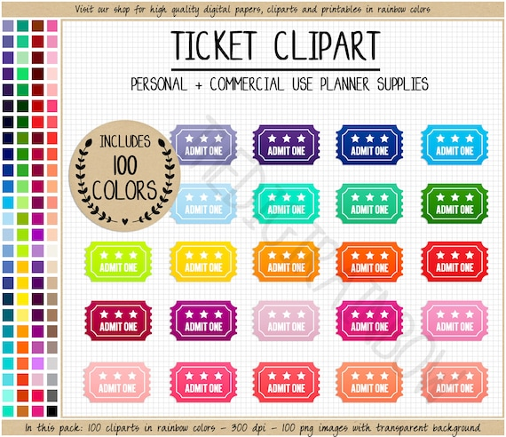 photo about Admit One Ticket Printable known as SALE 100 TICKET clipart rainbow online video ticket stickers circus clipart ticket planner stickers acknowledge one particular ticket printable Erin Condren Filofax