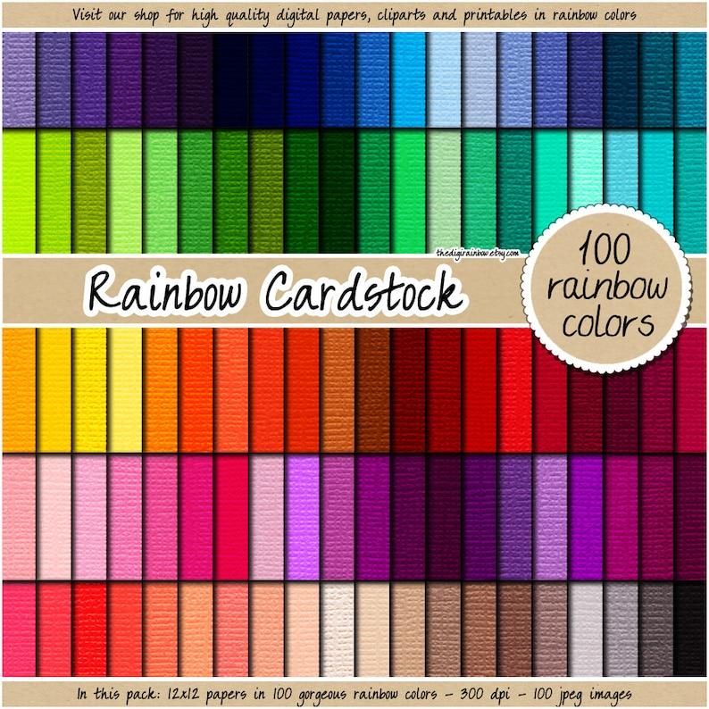 sale 100 cardstock digital paper rainbow cardstock texture