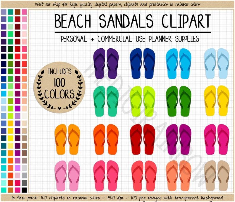 Summer 100 Erin Rainbow Stickers Flip Printable Clipart Pool Condren Flops Planner Beach Sandals ynOPm8v0Nw