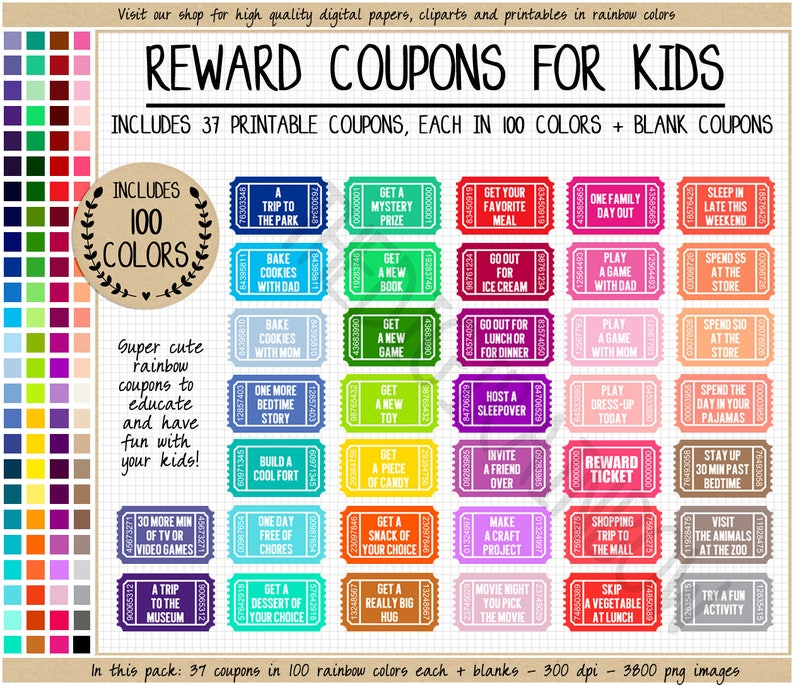 photo regarding Printable Reward Tickets known as SALE Benefit COUPON clipart printable advantage ticket rainbow blank coupon young children sport do-it-yourself coupon e book homeschool printable trainer printable