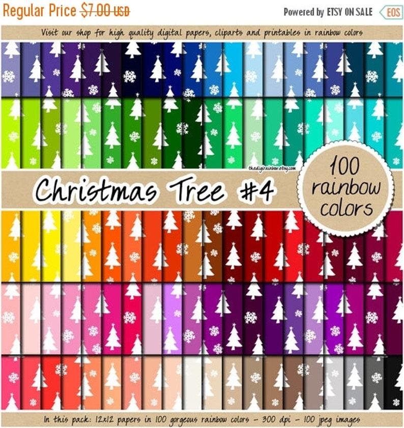 Sale 100 Christmas Tree Digital Paper Cute Digital Paper Christmas Clipart Winter Wonderland Scrapbook 12x12 Pastel Neutral Digital Paper