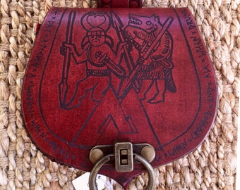 Viking Bezerker Pouch - Red Colour