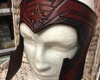 Leather Wonder Woman Antiope Tiara Headband