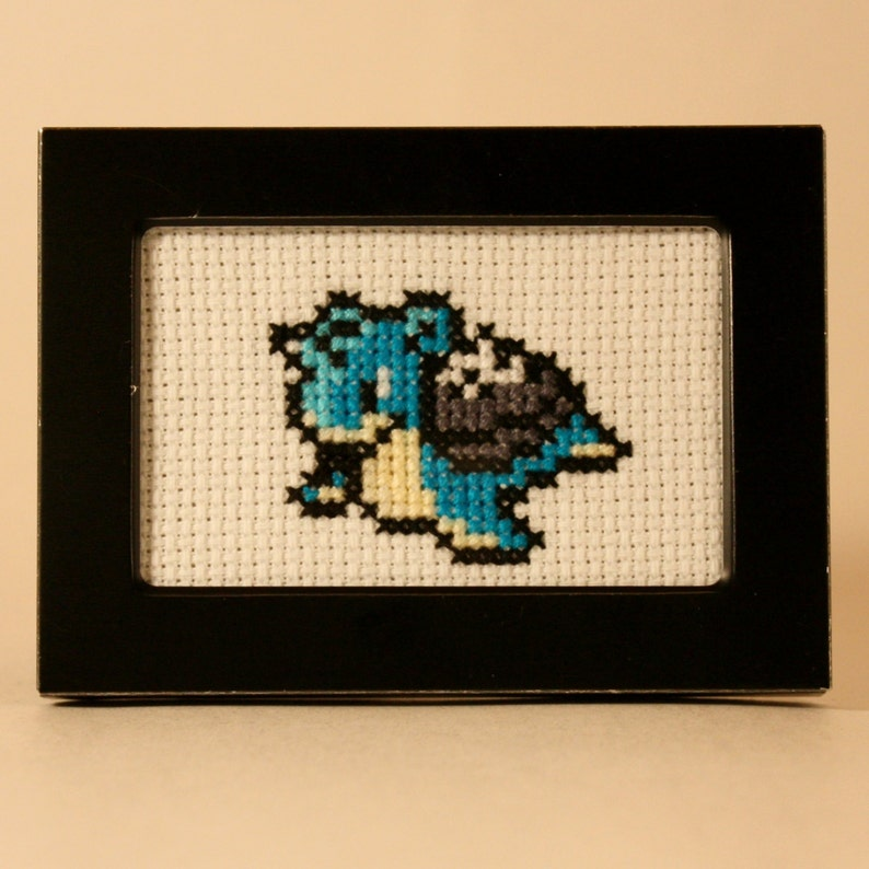 Lapras Pokemon Cross Stitch
