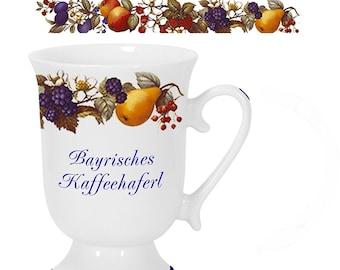 Porcelain mug, coffee pot, mug-Bayern-Obstranke-English Product des *