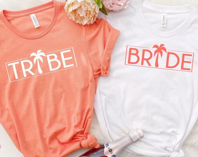 Bride Tribe Bachelorette Shirts, Bridal Party Shirts, Bridesmaid Shirt, Wedding Party Shirts, Beach Bachelorette Party Shirts