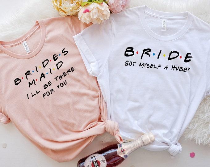 Friends Themed Bridesmaid Shirts