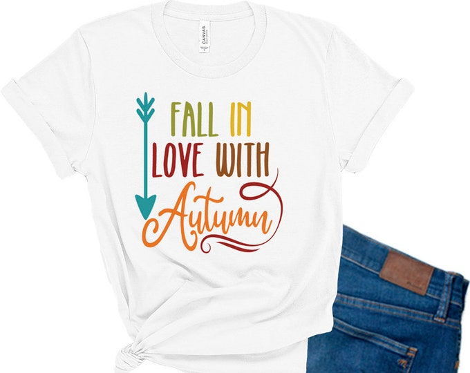 Fall in Love With Autumn Shirt, Cute Fall Shirt, Gift for Mom