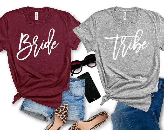 Bride & Bride Tribe Shirts