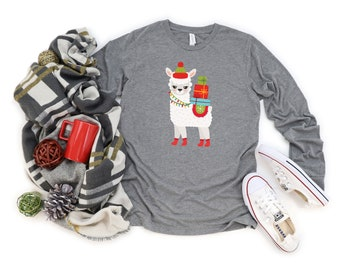 Llama Christmas shirt, Holiday Shirt, Holidays, Gift