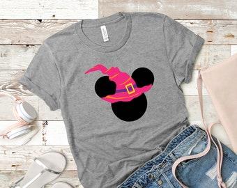 Disney Halloween Witch Hat Shirt