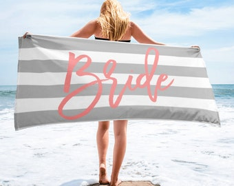 Bride Towel, Bachelorette Towel, Bridesmaid Towel