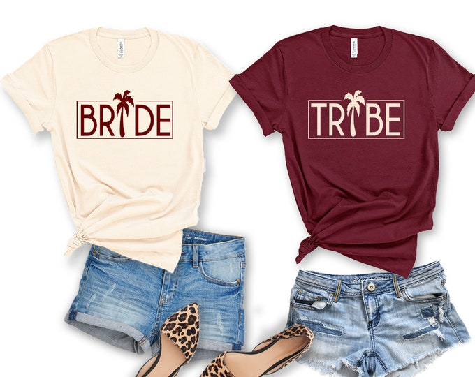 Beach Bride Tribe Bachelorette Party Shirt