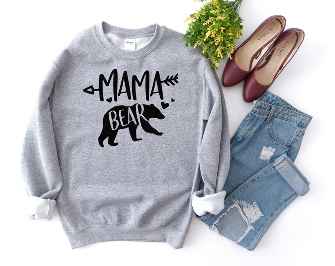 Mama Bear Sweatshirt - Momma Bear - Bear Shirt - Mama Bear Shirt - Mama Shirt - Mom Shirt - Mother Shirt - Mothers Day - Gift for Mom