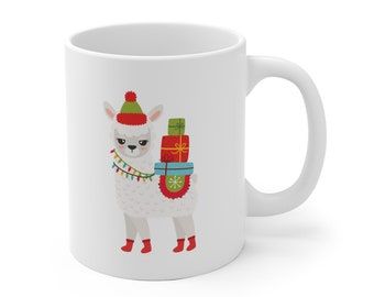 Llama Christmas Mug, Christmas Gift, Gift for Mom