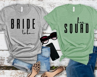 Bride & Bride Squad Shirts