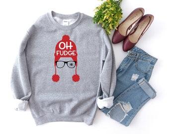 Christmas Sweatshirt, Christmas Story, Funny Christmas, Oh Fudge, Christmas, Xmas, Holidays, Christmas Gift