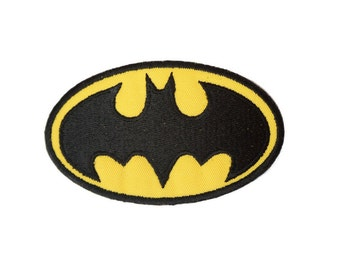 89 Batman Patch \ Emblem \ Badge \ Applique - Tim Burton Batman Patch - Michael Keaton Batman Patch