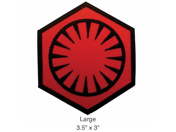 First Order Red And Black Uniform Patch Star Wars The Force Etsy