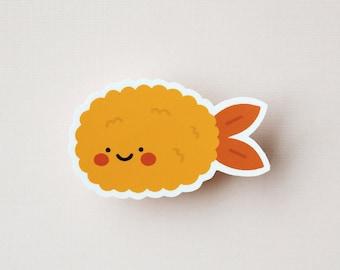 Shrimp Tempura - Cute Japanese Food Decal Vinyl Sticker - Laptop Sticker, MacBook, iPad, Mug, Water Bottle, Car, Kawaii Illustration