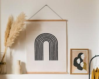 Rainbow - Abstract Print,Digital DIY Print,Quote Print,Wall Art,Wall Decor,Printable Art,Bohemian Print,Black White Print,Geometric Print