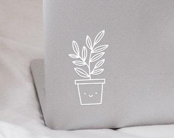 Cute Plant - Decal Vinyl Leaf Illustration Sticker  - Unique & Cute Gift, Laptop, MacBook, iPad, Car